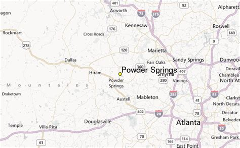 powder springs weather station record historical weather