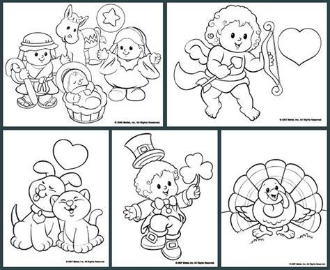 little people 174 coloring pages kleurplaten pinterest