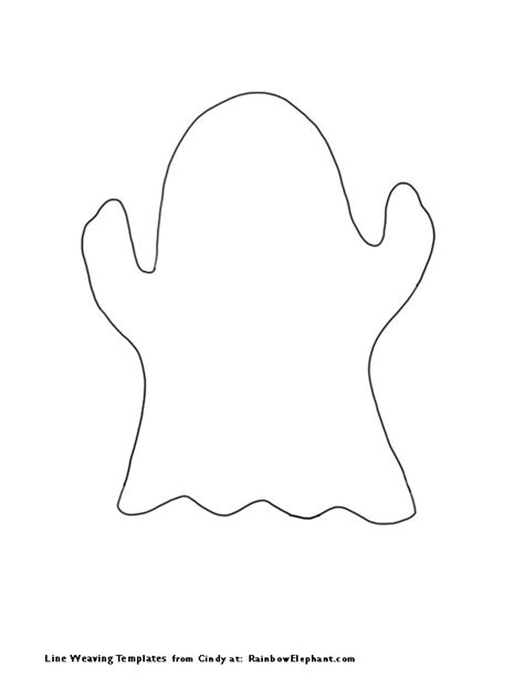 ghost template i made a string of ghosts doodled with