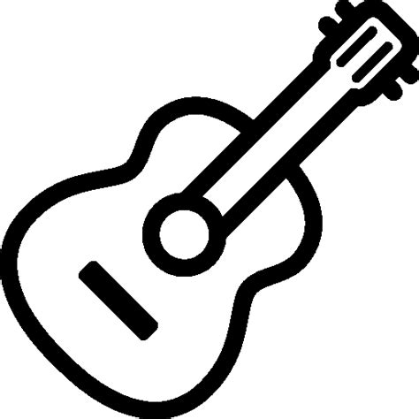 Guitar Clipart Outline by Guitar Outline Icon Png Clipart Image Iconbug