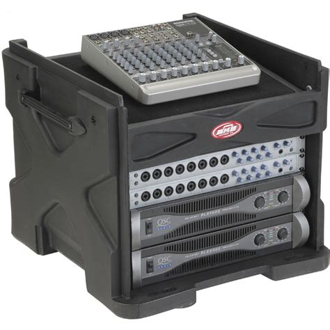 skb cases 1skb19 r1006v roto molded mini gigrig mixer rack