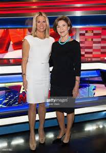 Fox news anchor martha maccallum l and former first lady of the