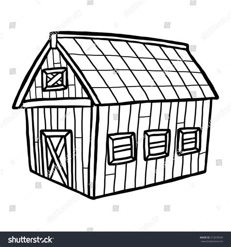 barn house music barn house cartoon vector illustration black stock vector 313678550 shutterstock