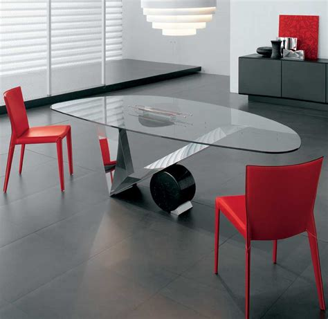 Modern Design Dining Table 55 Glass Top Dining Tables With Original Bases Digsdigs