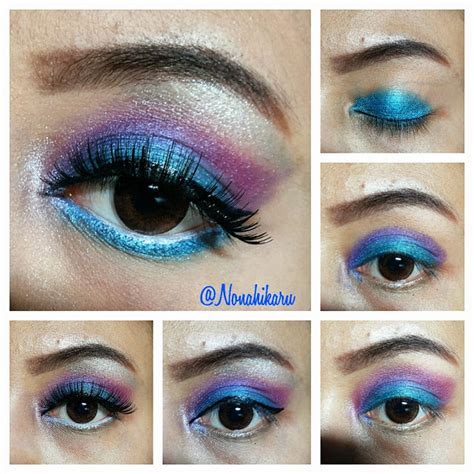 Eyeshadow Wardah Warna Biru tutorial blue travelling