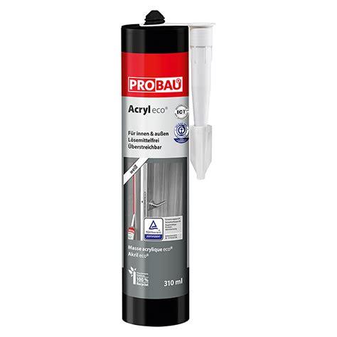 acryl silikon aussenbereich probau eco acryl schwarz 310 ml bauhaus