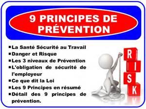 H R Resume by Sant 233 Et S 233 Curit 233 Au Travail Sst Les 9 Principes De