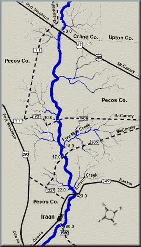 pecos river texas map pecos river texas
