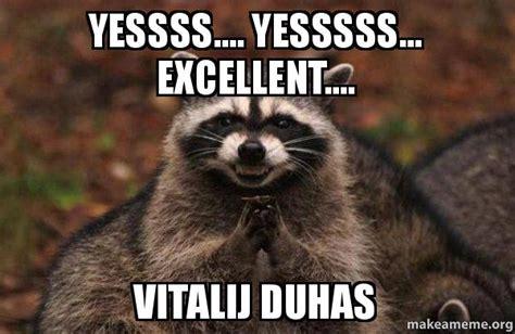 Excellent Raccoon Meme - evil raccoon meme excellent