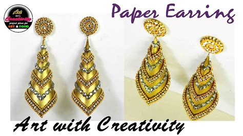 How To Make Earrings From Paper - how to make paper earrings made out of paper with