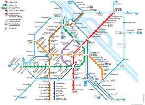 Map Metro by Vienna Maps Travel Map For Vienna Austria Detailed