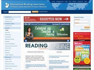 website for reading international reading association ira great websites