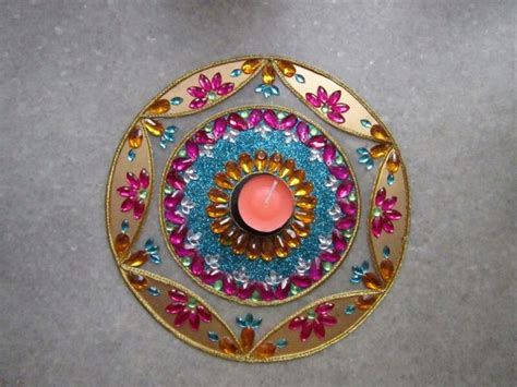 Handmade Diwali Decoration - rangoli diwali decor by handmade floral decor foam