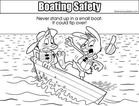 boat safety book small boat safety coloring boating safety