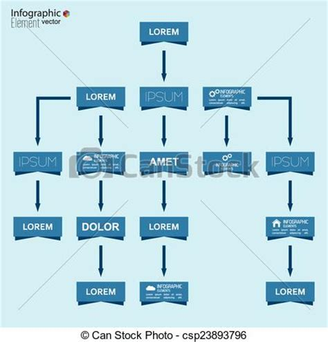 Corporate Organization Chart Template With Rectangle Drawings Org Chart Template