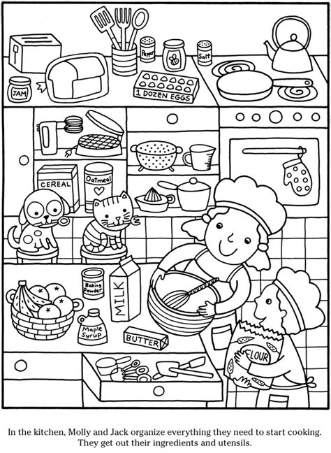 coloring pages for adults kitchen welcome to dover publications