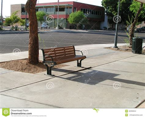 bench city city street bench stock photo image 42269554