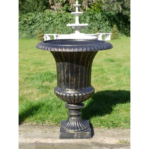 outdoor bronze finish planter urn swanky interiors