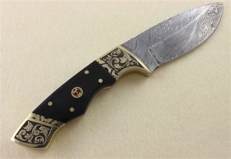 engraved knife photos engraved damascus knife