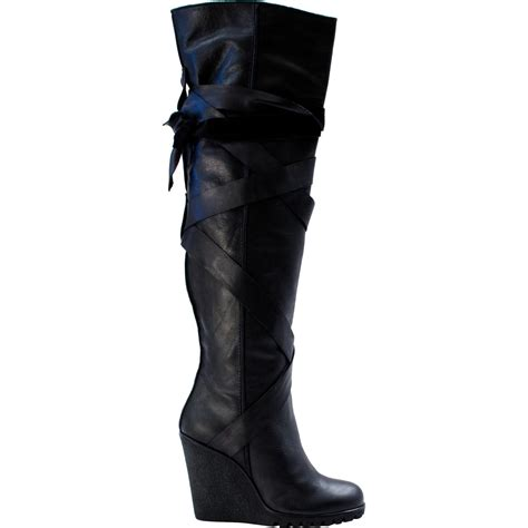 The Knee Wedge Boots wedge the knee boots 28 images sergio the knee wedge
