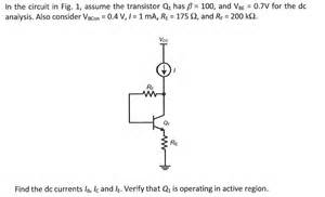 transistor q1 transistor q1 28 images dual transistor images for the circuit below let transistor q1 beta