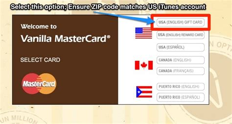 Vanilla Gift Card Zip Code - how to setup a us itunes account in canada with vanilla mastercard iphone in canada