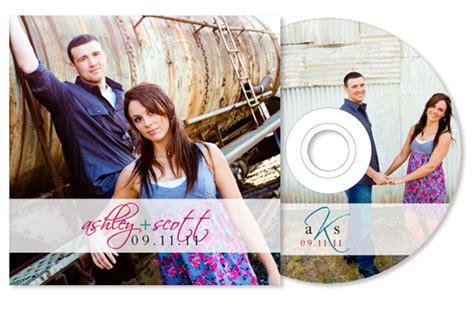 wedding invitation cd cover monogramwedding cd wedding favors