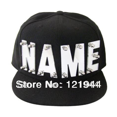 Baseball Cap Custom 1 aliexpress buy mirror acrylic letters hat custom name caps hip hop snapback personalized