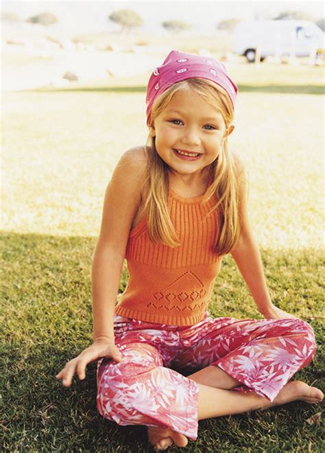this baby photo of gigi hadid proves she was born to be a gigi hadid for guess baby in 2000 celebrities