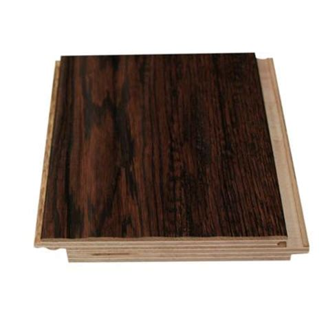 trillium moka java oak handscraped prefinished uniclic engineered hardwood flooring home