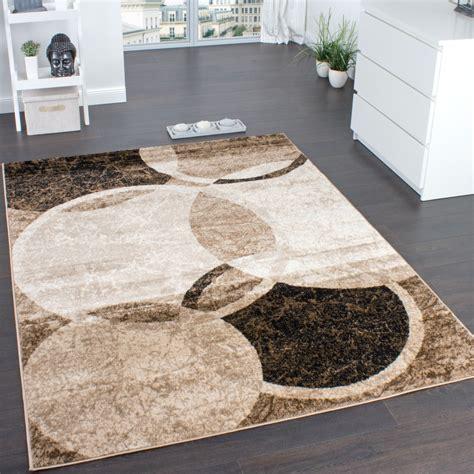 teppich rund wohnzimmer designer teppich wohnzimmer teppich kreis muster in braun