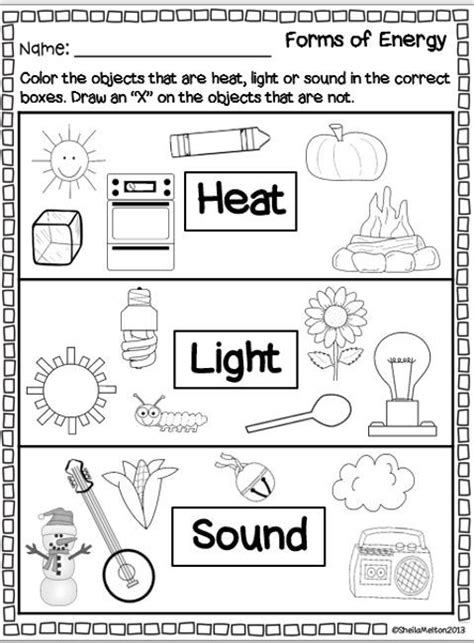 Forms Of Energy Worksheet by Forms Of Energy Heat Light Sound Pictures Search