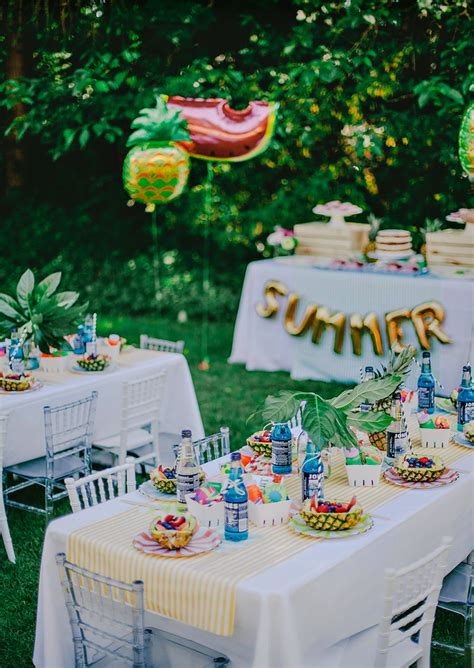 summer parties colorful chic fruity summer kids party hostess with