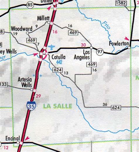 la salle county texas map la salle county at 65