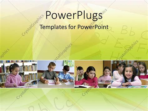 powerpoint template kids in elementary school learning