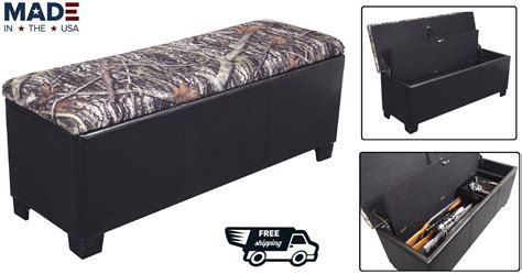 gun safe bench gun storage bench ottoman rifle shotgun hide safe guns