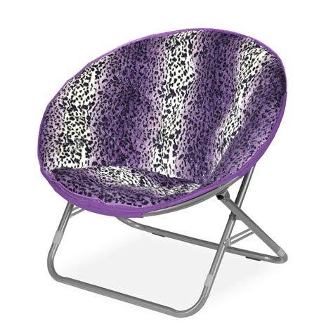 Saucer Chair by Idea Nuova Rock Your Room Leopard Ombre Faux Fur Saucer