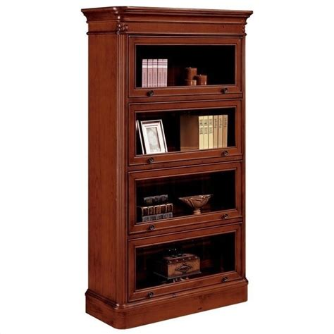 flexsteel antigua four door barrister bookcase 7480 06
