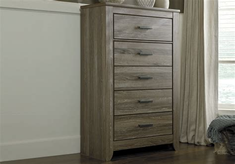 ashley zelen chest of drawers zelen five drawer chest lexington overstock
