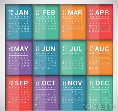 calendar design sles 2016 15 best calendar 2016 vector templates designmaz