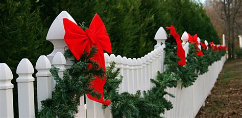 christmas decorations for fences outdoor yard decorating ideas