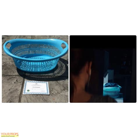 Poltergeist Blue Laundry Basket Original Movie Prop Blue Laundry