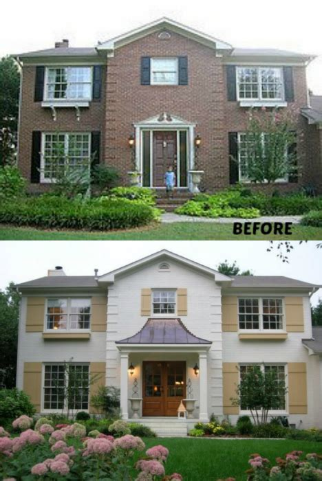 20 home exterior makeover before and after ideas exterior makeover painted brick exteriors