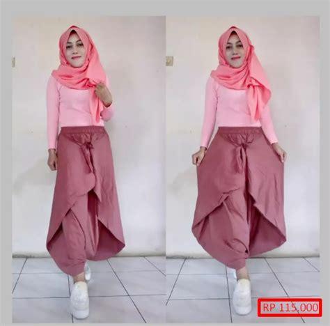 Celana Kargo Wanita Muslim 9 model celana kulot muslimah paling baru dan ngetren model baru