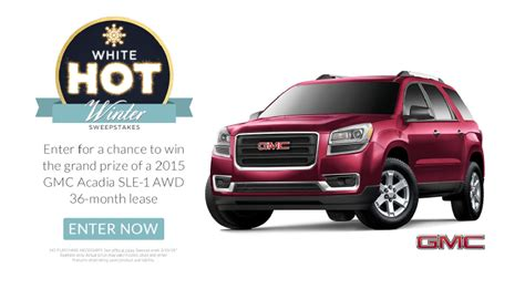Gmc Giveaway - gmc acadia lease giveaway sweeps by shop your way