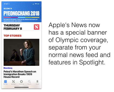 apple news ios 11 news app adds curated reporting of 2018 pyeongchang