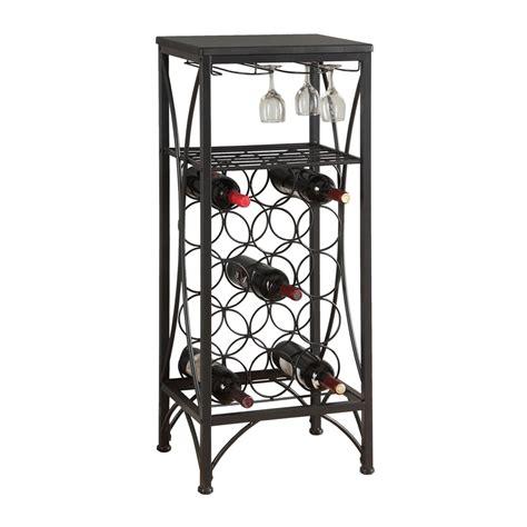 Black Wine Racks by Shop Monarch Specialties 15 Bottle Black Freestanding