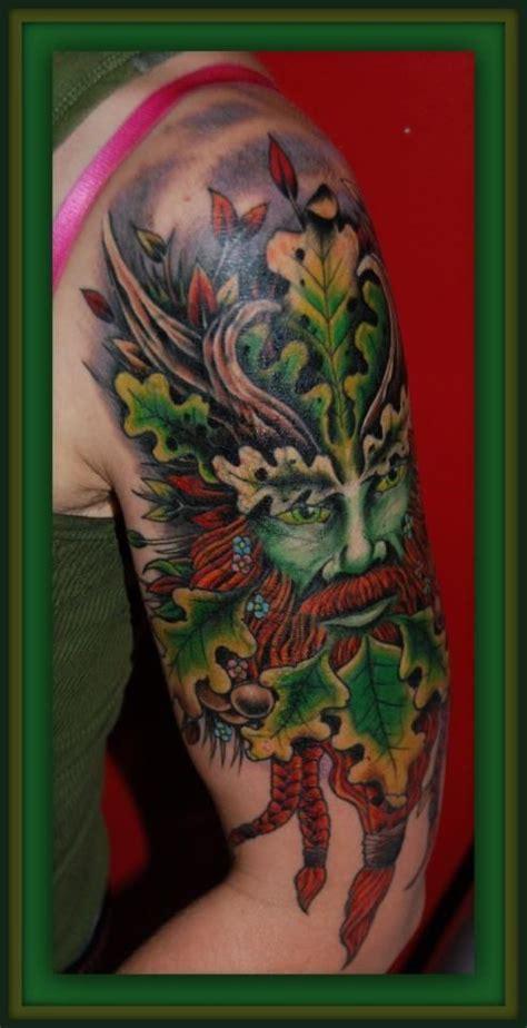 beautiful green man tattoo angels nature spirits gods