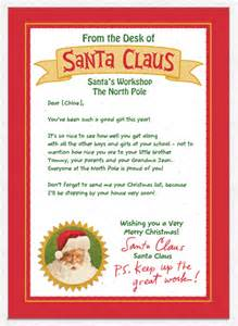 Free Santa Reply Letter Template Personalized Letter From Santa Galleryhip Com The