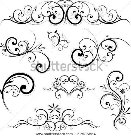 flourish tattoo designs swirls and flourishes on baroque swirls and
